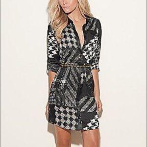💋 Guess Black & White Button Up Dress
